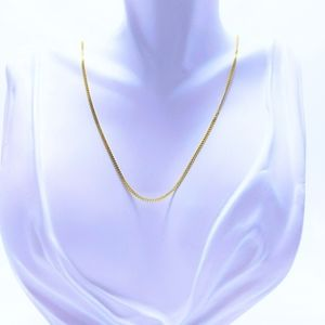 """18"""" 925 Stirling Silver Cuban Chain"""